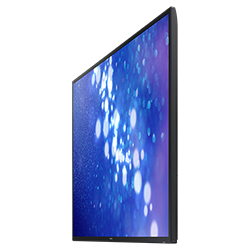 "Samsung DM65E - DM-E Series 65"" Slim Direct-Lit LED Display Right Angle View"