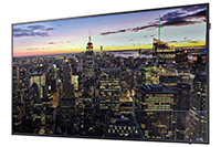 "Samsung QB75H - QB-H Series 75"" Edge-Lit 4K UHD LED Display (Right Perspective)"