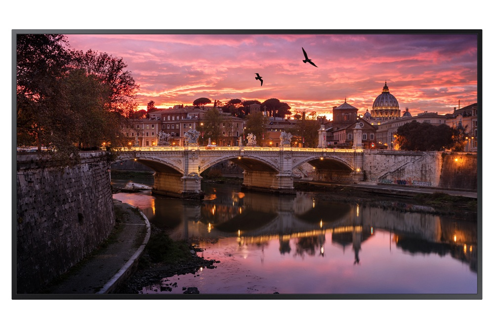 Samsung QB49R - 49-inch Commercial 4K UHD LED LCD Display, 350 NIT LED Display (Front)