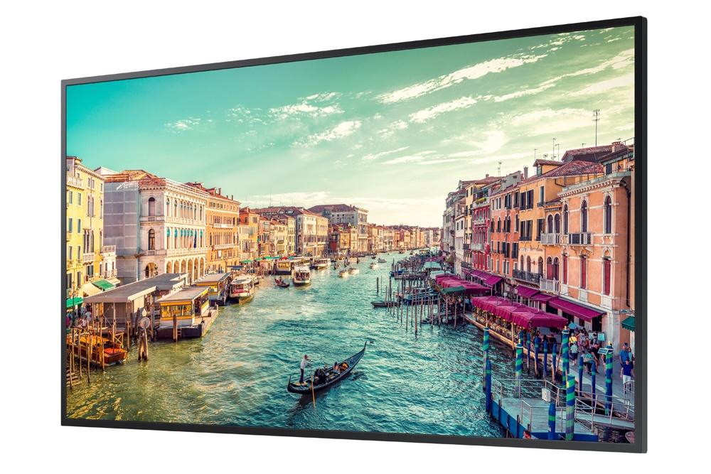 Samsung QM55R - 55-inch Commercial 4K UHD LED LCD Display, 500 NIT LED Display (Right Perspective)