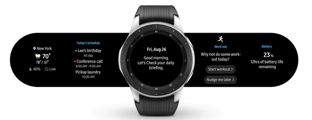 Galaxy Watch  daily rundown